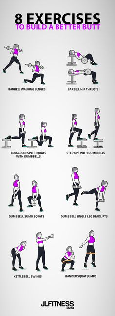8 Exercises To Build A Better Butt 8 Exercises To Build A Better Butt,Fitness & Motivation If you're looking to develop better glutes, then these 8 exercises should be in your lower body workout. Fitness Workouts, Fitness Hacks, At Home Workouts, Fitness Motivation, Workout Routines, Butt Workouts, Lower Back Workouts, Ab Workouts With Weights, Workout Videos
