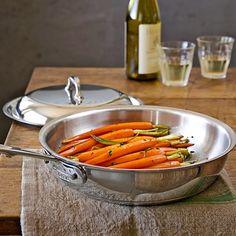 All-Clad Copper Core Sauté/Simmer Pan, 3-Qt. #williamssonoma