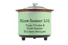 Got a new slow cooker or Crock Pot? Take our Slow Cooker 101 for Tips, Tricks and Slow Cooker Chicken Recipes!