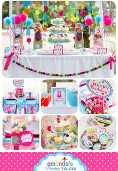 Candy Sweet Shoppe Party Printables Set - Candy Birthday - Gumball - Lollipop by Amanda's Parties TO GO. via Etsy.