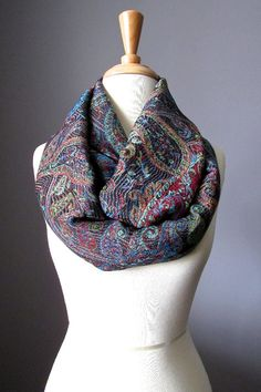 Black infinity scarf Black scarf pashmina by ScarfObsession