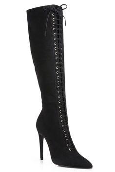 Miu Miu Black Lace Up Boots€1,267 Fall Winter 2014 #Shoes #Heels #Boots