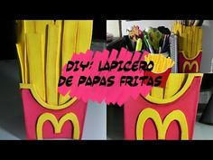 DIY DECOR DESK: Lapicero de papas fritas