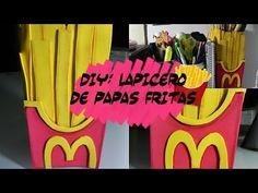 DIY DECOR DESK: Lapicero de papas fritas