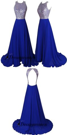 prom dresses 2016, long prom dresses, royal blue prom dresses, sequined prom dresses
