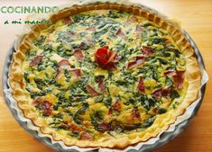 SPINACH QUICHE - Very easy and delicious ! - spinach cake spinach cake spinach cake Welcome to our website, We hope you are satisfied with the c - Spinach Cake, Spinach Quiche, My Recipes, Cake Recipes, Favorite Recipes, Quiche Lorraine, Empanadas, Easy, Appetizers