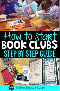 Step by Step Guide to help you get started with Book Clubs in your classroom. Scheduling ideas, organization, conferencing, etc. Third Grade Books, Third Grade Reading, Second Grade, Up Book, Book Club Books, Book Clubs, Book Tasting, Reading Club, Reading Response