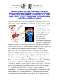 Crescer Desenvolver Infanto Juvenil DM1 Sofre Influência Deficiência Insulina,Influêcia GH,IGF -I / II by VAN DER HAAGEN via slideshare