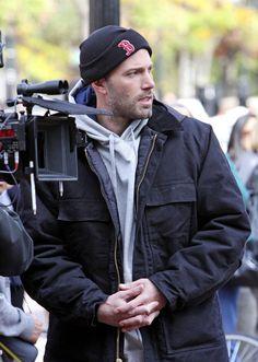 "Cambridge native Ben Affleck filming ""The Town"" in Harvard Square, Cambridge, MA."