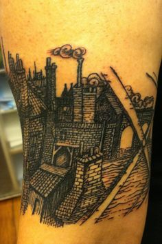etching tattoo by brucius