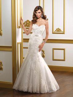 Mori Lee 1807 Strapless Mermaid Gown - Nearly Newlywed Wedding Dress Shop