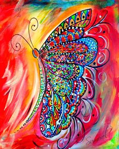 Image result for saatchi butterfly acrylic