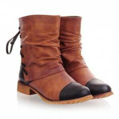 Women'S Boots Short Pleated And Splice