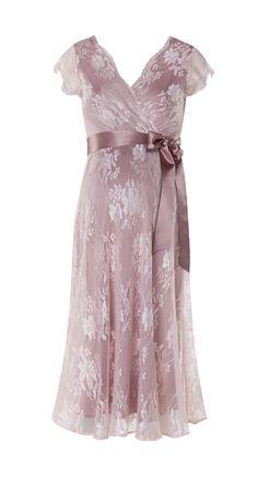 Suknia ciążowa ślubna długa lub krótka Eden Pink Blush