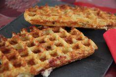 Gaufres salées de pommes de terre, au bacon et au Comté - Les petits plats de Patchouka