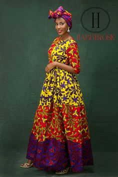 Mira Maxi robe longue africaine robe robe africaine Maxi