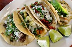 Sancho's Authentic Mexican Restaurant offers standout tacos such as, left to right, lengua, al pastor, chorizo and pescado.