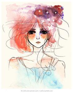 Butterflies eat my hair by j-b0x.deviantart.com on @DeviantArt