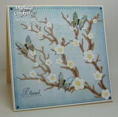 Spellbinders cherry blossom die Designer Angie Crockett 11.26.12