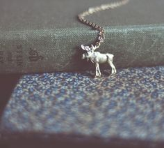 wilderness moose necklace. by bellehibou on Etsy