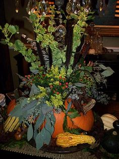 Create a Gourd-geous Centerpiece - Our 45 Favorite Fall Decorating Ideas on HGTV