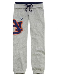 AUBURN TIGERS FLEECE CUFF SWEATPANT | GIRLS AUBURN COLLEGE FAN SHOP | SHOP JUSTICE