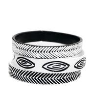 Carved Chevron Bracelet Set : Once PVC pipe destined for a landfill, this Carved Chevron Bracelet Set has been transformed into a fashion-forward accessory. #fairtuesday