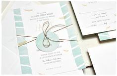 Feather Wedding Invitation Suite | a delicate and soft feather illustration wedding invite | Smitten On Paper