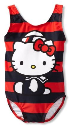 b86fef7e0d Hello Kitty Toddler Girls 1 Piece Nautical Red and Navy Bathing Suit 2T »  Pink