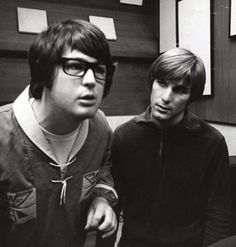 "With Dennis during the ""Pet Sounds"" sessions"