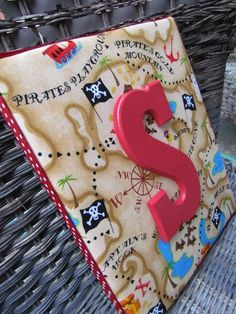 Pirate Wall Letters 8x10 Treasure Map Skull by spellitwithstyle, $21.99