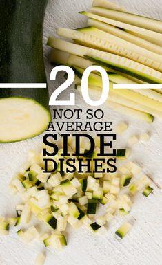 20 Not So Average Side Dishes Healthy Munchies, Healthy Eats, Healthy Recipes, Wedding Reception Food, Wedding Blog, Wedding Ideas, Menu Planning, Wedding Planning, Wedding Appetizers