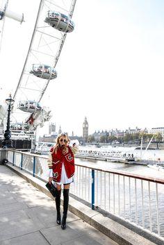 Coach Bomber jacket & overknees   London
