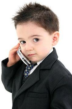 Cute little boy haircut.