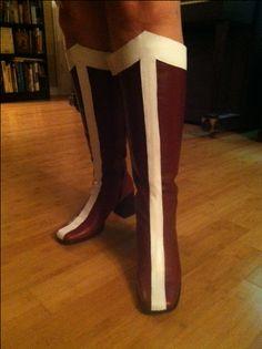 DIY Wonder Woman boots tutorial
