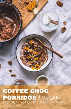 Coffee Choc Porridge / Vegan Breakfast Porridge, Fall Breakfast, Fall Recipes, My Recipes, Vegan Recipes, Vegan Breakfast Recipes, Healthy Breakfasts, Porridge Recipes, Plant Based Breakfast
