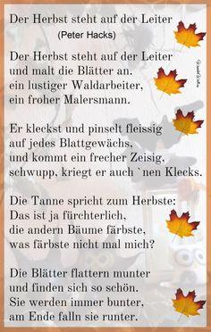 Herbstliches Filzen Peter Hacks, Personalized Items, Siskin, Felting, Autumn, Nice Asses, Poetry, School