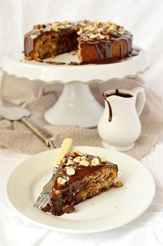 Dark Chocolate Pear and Hazelnut Cake from The Domesticgothess! Dessert Recipe