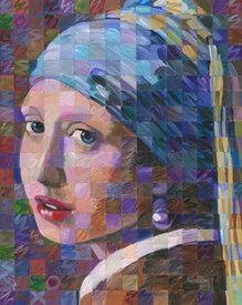 Girl With A Pearl Earring (Variation on Vermeer) by Randal Huiskens