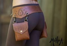 Mohana Leather Pocket Belt Bag Marbled Brown and by MohanaDesigns - perfect for dresses
