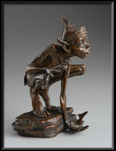 Pris dans la miniature Loi - David Goode Bronze Sculpture