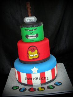 i guess i should try to make this for jer or jacob's birthday    Cake Wrecks - Home - Sunday Sweets: Avengers,Assemble!