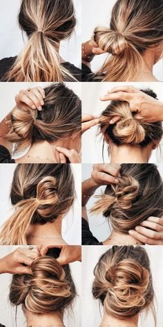 """Love when you find a quick under hairdo. Yeah, it's one part quasi chic twist, and one part """"I swear I didn't sleep in this overnight and was too lazy to undo my hair and… # lazy Hairstyles Hot Mess Hair Medium Length Hairstyles, Medium Length Updo, Updos For Medium Length Hair Tutorial, Shoulder Length Hairstyles, Hair Looks, Hair Lengths, Hair Trends, Hair Inspiration, My Hair"""