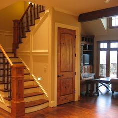 white trim with wood doors   White Trim Door Design Ideas, Pictures, Remodel, and Decor