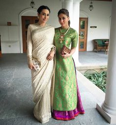 Kareena Kapoor in @PayalKhandwala and Karishma in SabyaSachi at 19th International children's film festival in Hyderabad