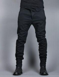 Pantalon Homme BORIS BIDJAN SABERI En Drill Noir-- (€650.00) - Svpply