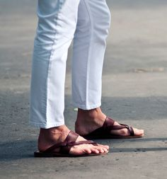 Men sandals...nice summer casual style.