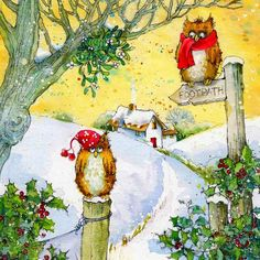 Christmas Owls by Jan Pashley