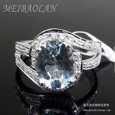 Online Shop Natural Aquamarine Jewelry Rings(3901r)|Aliexpress Mobile