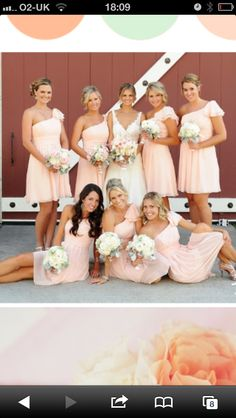Different styles.. They can pick which they feel comfortable with! Love the brides dress too